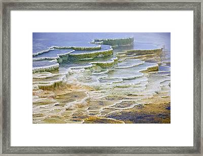 Framed Print featuring the photograph Hot Springs Runoff by Gary Lengyel