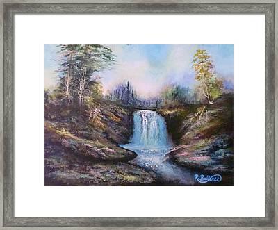 Hot Springs Water Fall Framed Print