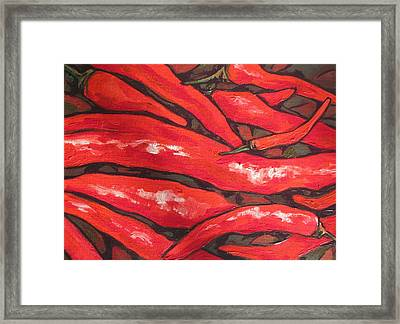 Hot Stuff Framed Print by Sandy Tracey