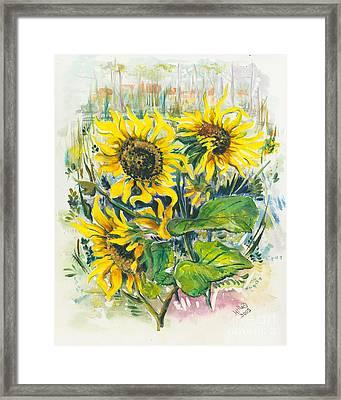 Hot Summer Day 3 Framed Print by Elisabeta Hermann