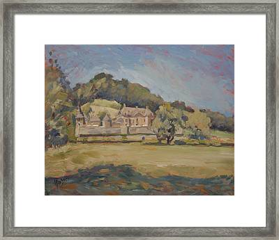 Hot Summer Day At Chateau Neercanne Framed Print