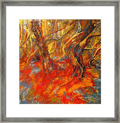 Hot Summer In The Forest Framed Print