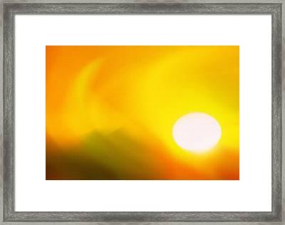 Hot Summer Sun 2 Framed Print by Steve Ohlsen