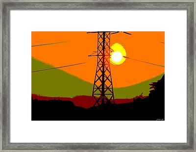 Framed Print featuring the photograph Hot Summer Sun by JoAnn Lense