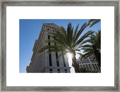 Hot Sun And Blue Skies - Caesars Palace Las Vegas Framed Print by Georgia Mizuleva