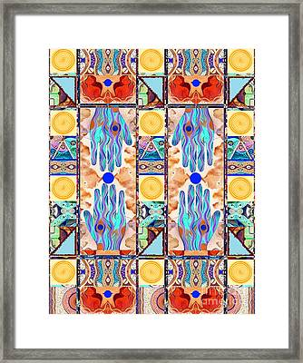 Hot Suns And Blue Planets Framed Print by Helena Tiainen