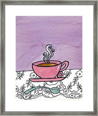 Hot Tea Framed Print by Norma Appleton