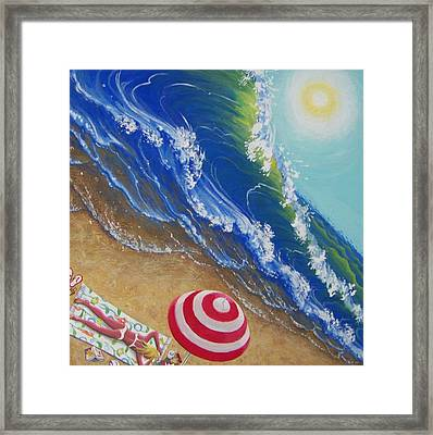 Hot Time In The Summer Sun Framed Print by Marjorie Hause