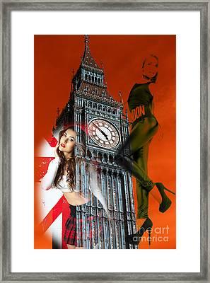 Hot Times In London Framed Print by John Rizzuto