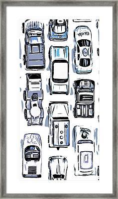 Hot Wheels Phone Case Framed Print by Edward Fielding