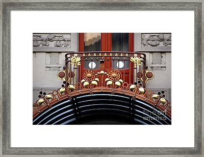 Hotel Balcony Design Framed Print by John Rizzuto