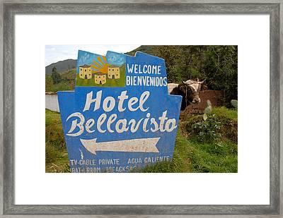 Hotel Bellavisto Framed Print by Lynn Friedman
