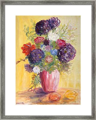 Hotel Bouquet Framed Print
