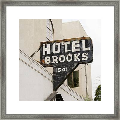 Hotel Brooks Framed Print by Art Block Collections