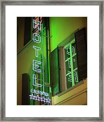 Framed Print featuring the photograph Hotel California - Rome Italy Photography by Melanie Alexandra Price
