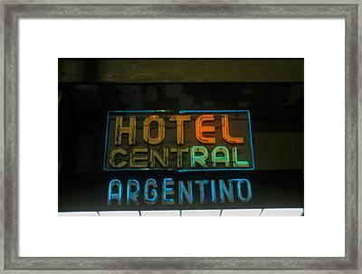 Hotel Central Argentino Framed Print