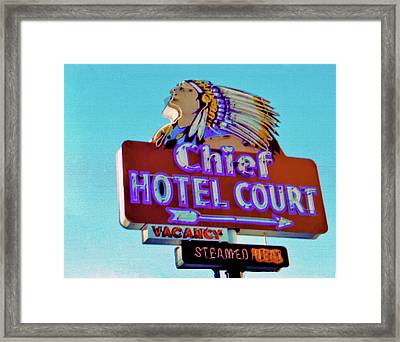 Framed Print featuring the photograph Hotel Chief Court by Matthew Bamberg