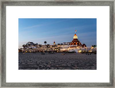 Hotel Del At Twilight Framed Print