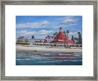 Hotel Del Coronado Framed Print by Lisa Reinhardt