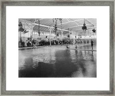 Hotel Del Monte Bath House Framed Print by Underwood Archives