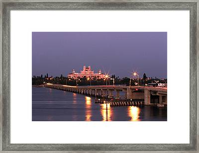 Hotel Don Cesar The Pink Palace St Petes Beach Florida Framed Print by Mal Bray