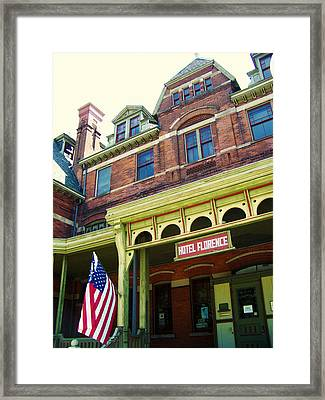 Hotel Florence Pullman National Monument Framed Print by Kyle Hanson
