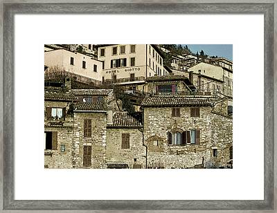 Framed Print featuring the photograph Hotel Giotto by John Hix