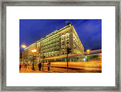 Framed Print featuring the photograph Hotel Grande Bretagne - Athens by Yhun Suarez