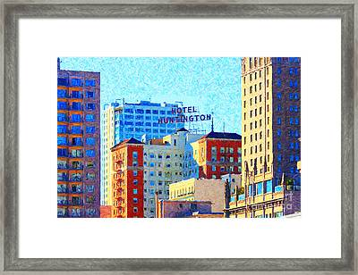 Hotel Huntington Framed Print by Wingsdomain Art and Photography
