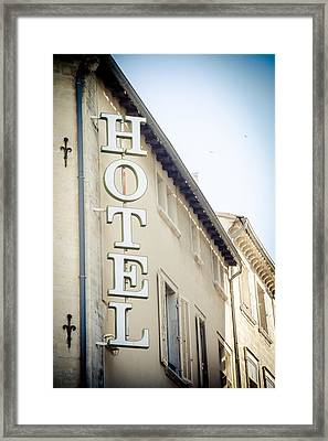 Framed Print featuring the photograph Hotel by Jason Smith