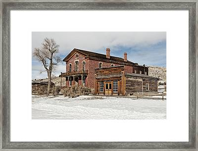 Hotel Meade And Saloon Framed Print