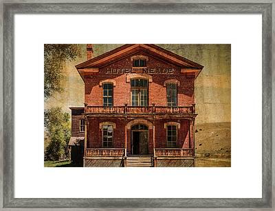 Hotel Meade Framed Print by Steven Bateson