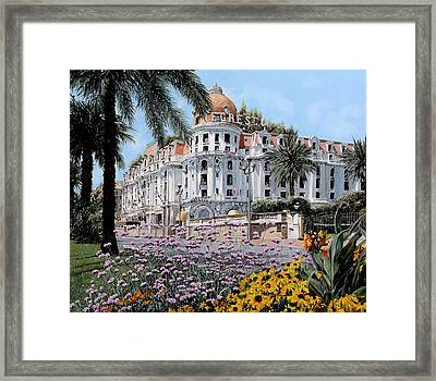 Hotel Negresco  Framed Print by Guido Borelli