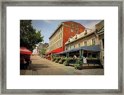 Hotel Nelson - Place Jacques Cartier Framed Print by Maria Angelica Maira