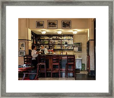 Framed Print featuring the photograph Hotel Presidente Bar Havana Cuba by Charles Harden