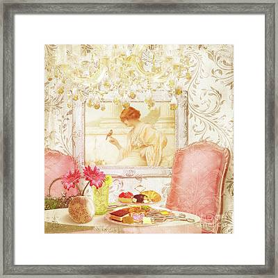 Hotel Paris, Tea Room For Lunch Circa 1900 Framed Print by Tina Lavoie