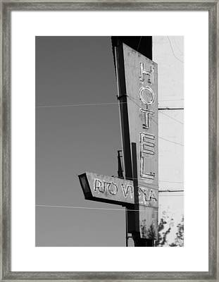 Hotel Rio Vista Framed Print by Troy Montemayor