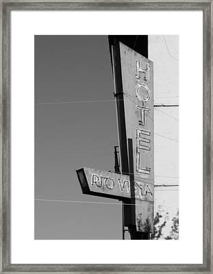 Hotel Rio Vista Framed Print