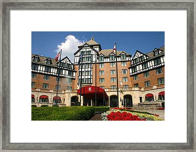 Hotel Roanoke Framed Print by Mindy Woodford