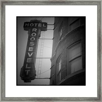 Hotel Roosevelt Framed Print