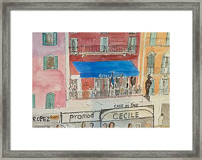 Hotel Sube St Tropez 2012 Framed Print by Bill White