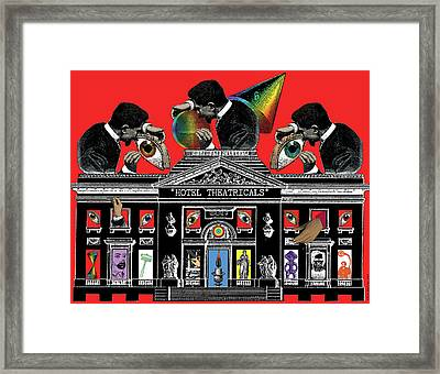 Hotel Theatricals Framed Print by Eric Edelman
