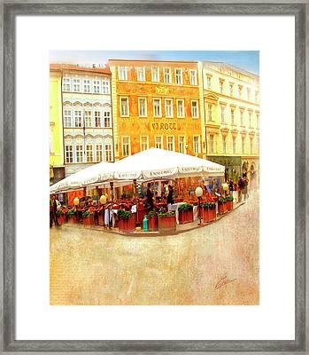 Hotel U Prince Prague Framed Print