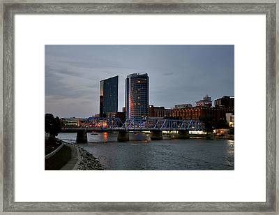 Hotels On The Grand River Framed Print
