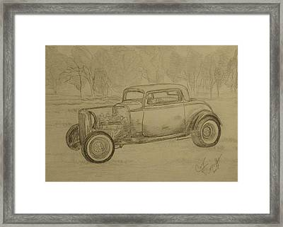 Hotrod 1934 Ford Coupe Framed Print by Cary Singewald