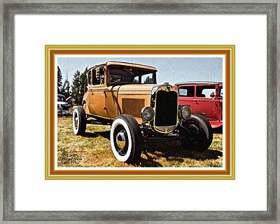 Hotrod Mania Catus 1 No. 1 L A With Decorative Ornate Printed Frame Framed Print by Gert J Rheeders