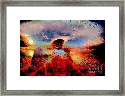 Hotty Totty Angel Cross That Bridge Framed Print by Catherine Lott