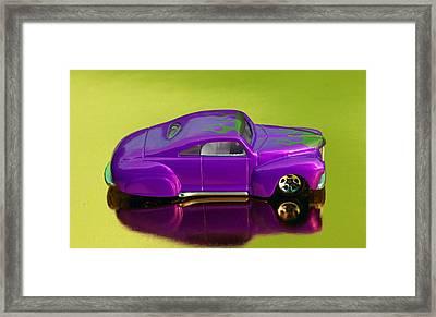 Hotwheels Taildragger Purple Framed Print