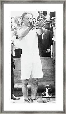 Houdini, 1910 Framed Print
