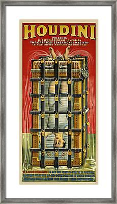 Houdini Advertisement 1916 Framed Print